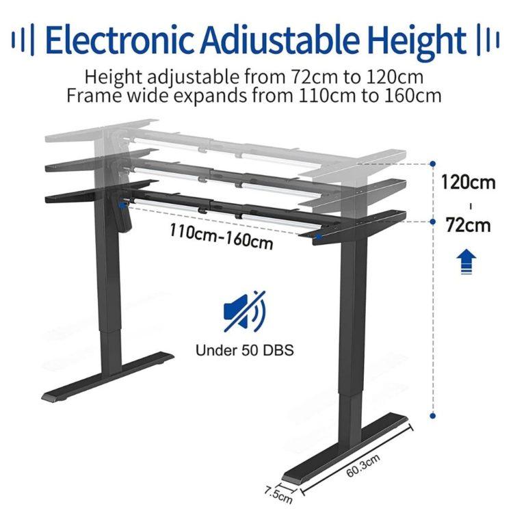 Electric Stand Up Desk Frame Workstation 10