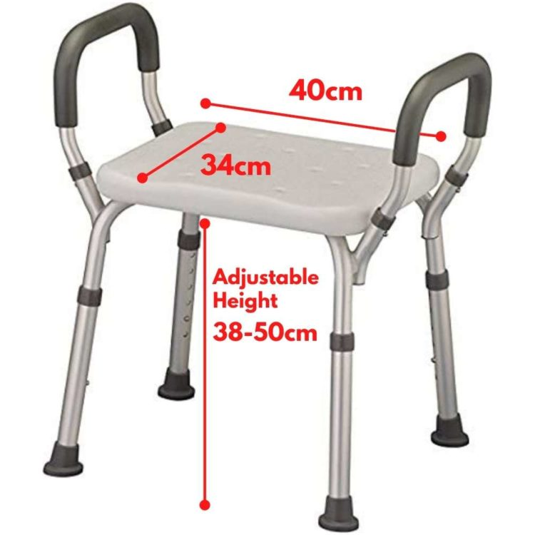 Medical Shower Chair   Bath Seat Shower Bench With Arms 6