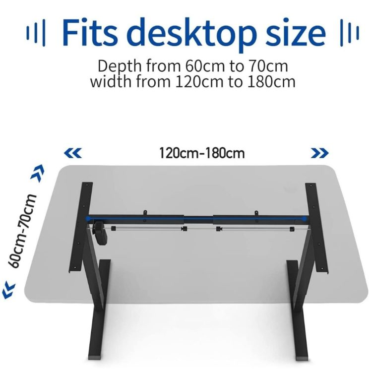 Electric Stand Up Desk Frame Workstation 8